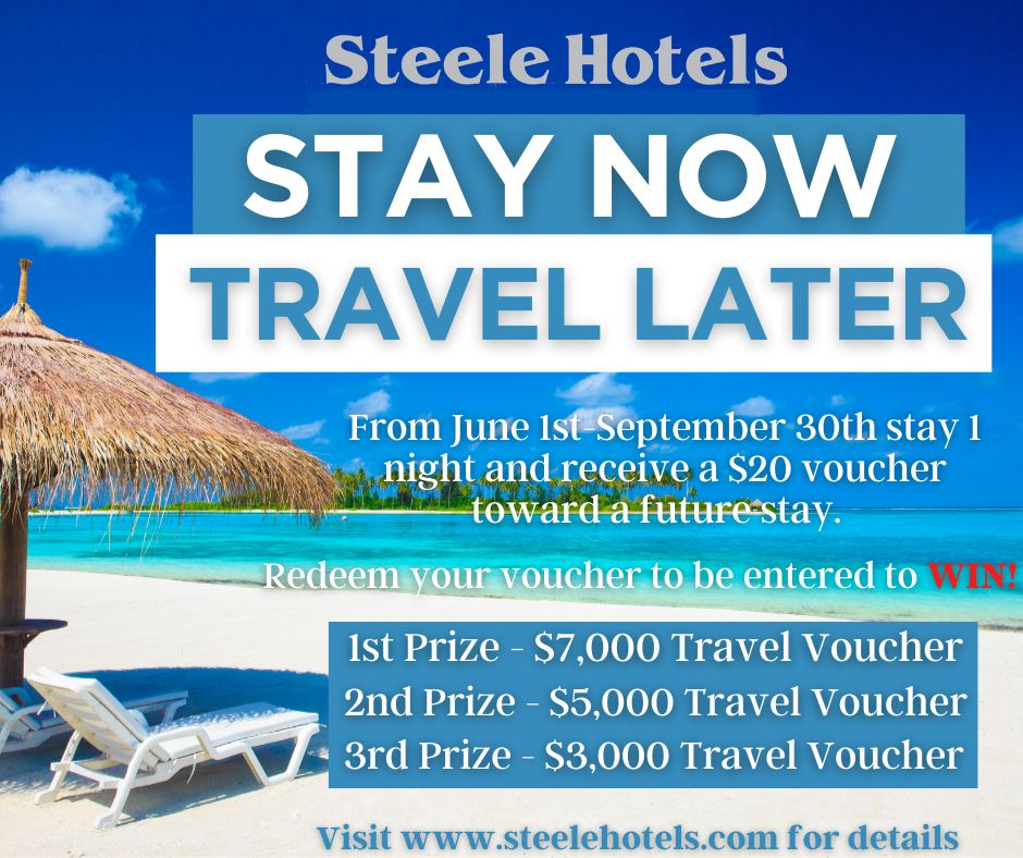 This summer we will be giving away $15,000 in travel vouchers!